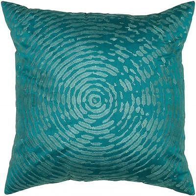 Rizzy Home Peacock Blue Decorative Throw Pillow T05468 | eBay