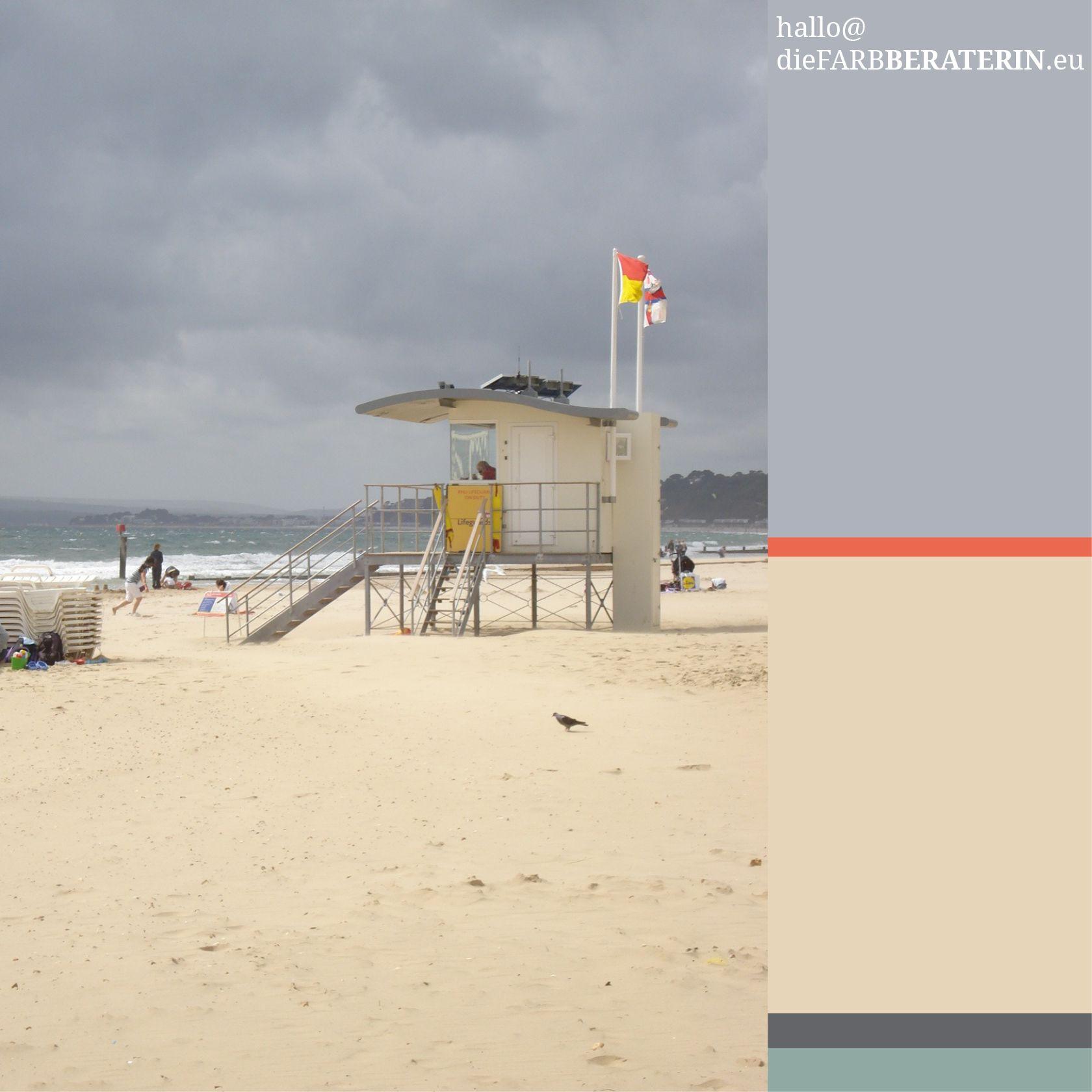 Farbkombinationen Blau Grau: #farbinspiration #bounemouth #beach #dorset #england #2008