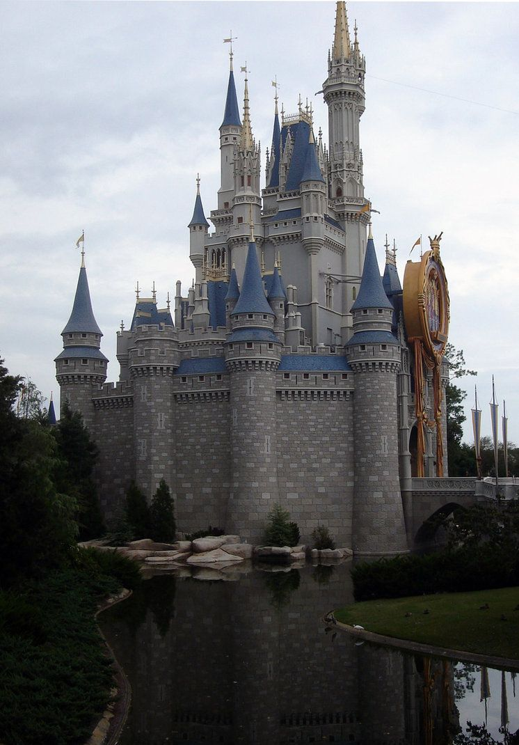 castle canal view by WDWParksGal-Stock