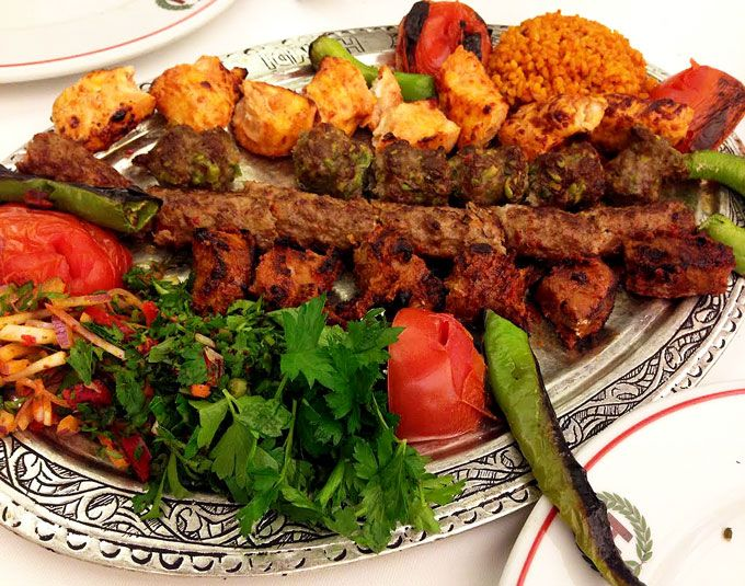 Grilled Turkish Kofta Kebabs I Panning The Globe Recipe Kebab Turkish Kebab Mediterranean Recipes