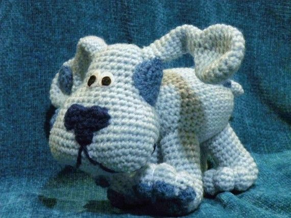 Snoopy Easy Amigurumi Pattern : Blue from blue's clues dog the crochet pattern in pdf format. this