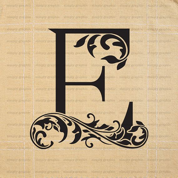Large Initial Letter E Wall Decor Letter by SimplyGraphicStore ...