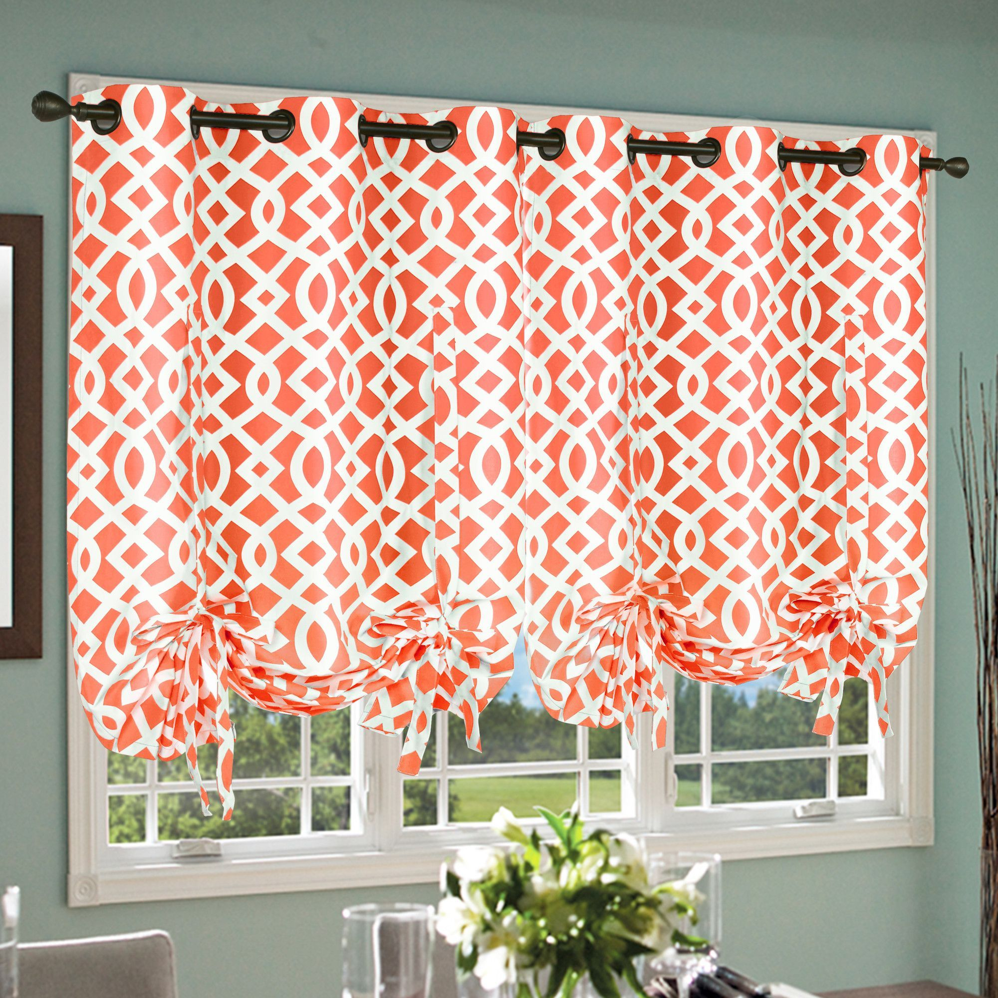Thermalogic Trellis Tie Up Curtain Single Panel & Reviews