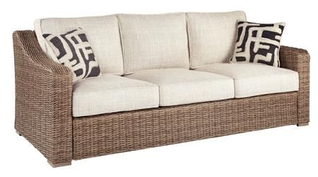 """Beachcroft Collection P791-838 84"""" Sofa with Nuvella ... on Beachcroft Beige Outdoor Living Room Set  id=98533"""