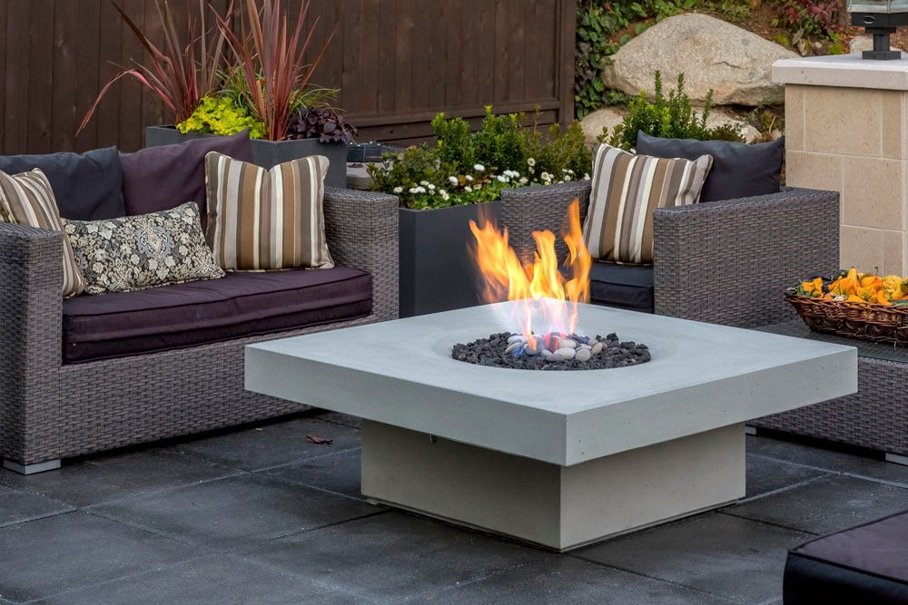 Elevated halo fire tables minimalism elevated to new