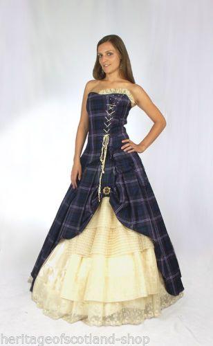 Bella 100% Pure Scottish Wool Wedding Tartan Dress Heritage of ...