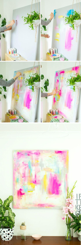 diy abstract artwork furniture hacks tutorial fall for diy kunstwerke wandbilder selber. Black Bedroom Furniture Sets. Home Design Ideas