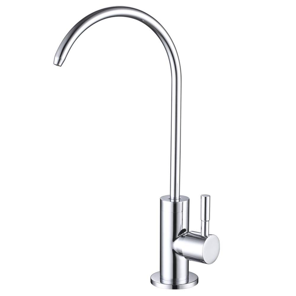 Esow Kitchen Water Filter Faucet 100 Lead Free Drinking Water Faucet Fits Most Reverse Osmosis Units Or Water Fi Water Faucet Stainless Steel 304 Water Filter