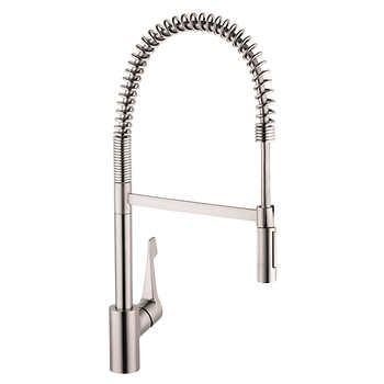 Hansgrohe Cento Semi Pro Kitchen Faucet Available In Steel Optik Or