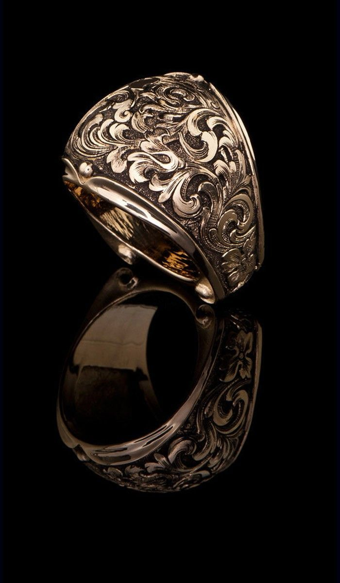 J Chapa Hernandez Western Floral Design Ring GR616 LATEST