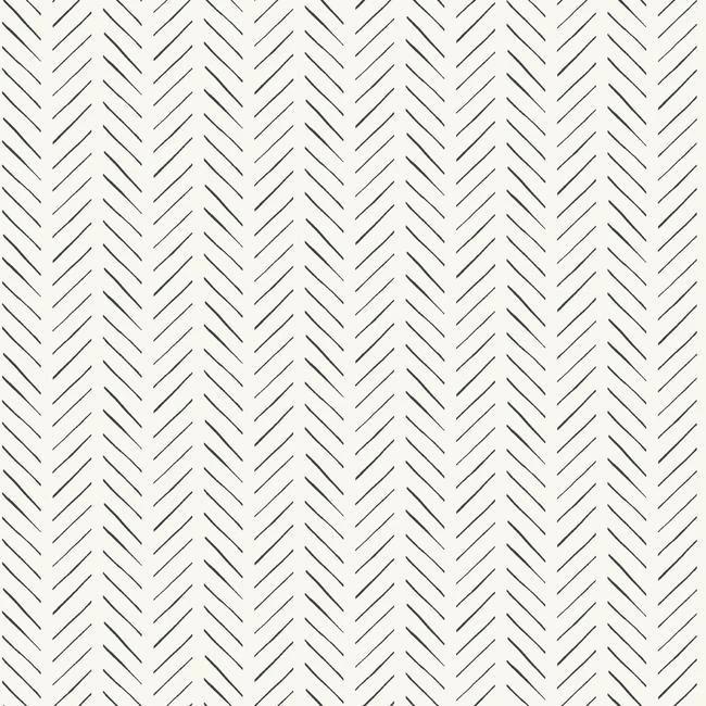Pick Up Sticks Peel Stick Wallpaper In Black And White By Joanna Gai Herringbone Wallpaper Pattern Wallpaper Magnolia Homes