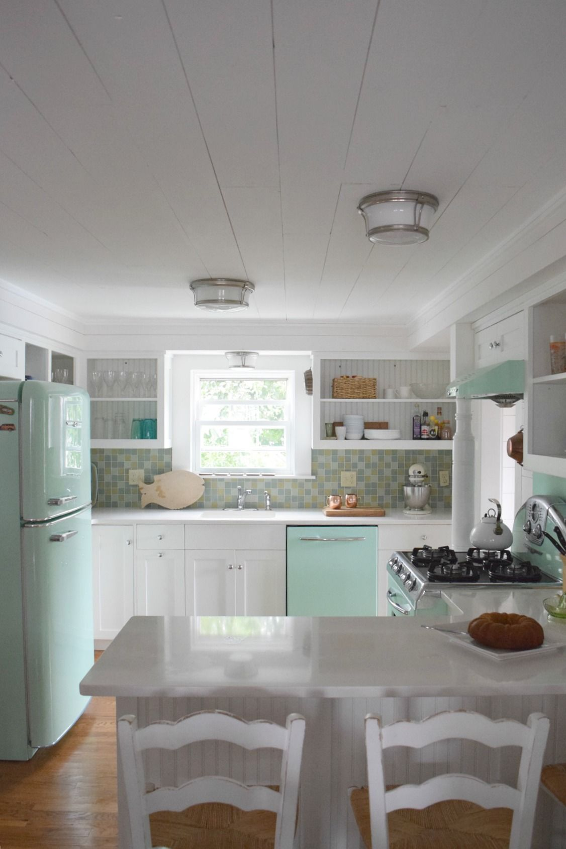 Beach House Tour and Retro Kitchen | The Maine House | Beach ... on cottage kitchen decorating ideas, small cottage decorating ideas, cottage kitchen design ideas, tiny cottage kitchen corner, small farmhouse kitchen ideas, country blue kitchen ideas, barn kitchen ideas, do it yourself kitchen ideas, white cottage kitchen ideas, 2015 kitchen ideas, cottage style kitchen ideas, lowe's kitchen ideas, english cottage kitchen ideas, lake house kitchen ideas,