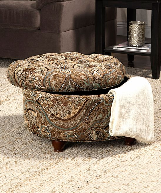 Brown Paisley Tufted Storage Ottoman Products
