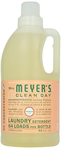 Mrs Meyer S Clean Day Laundry Detergent Geranium 64oz 64 Loads