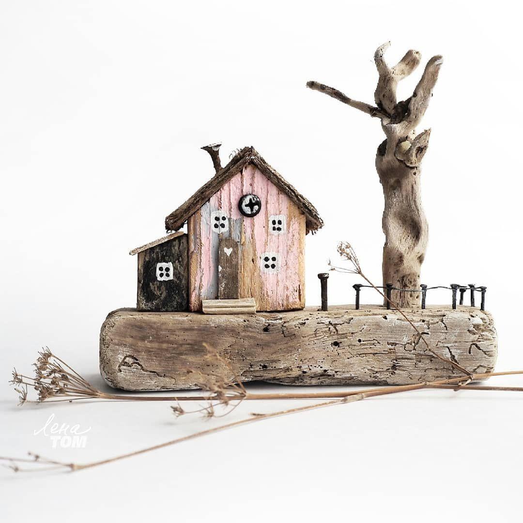 ЗАНЯТ. Домик и дворик 😊 Дрифтвуд-арт, композиция из дерева