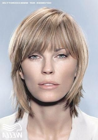 color hairstyles medium length with bangs  easy
