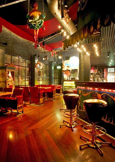 Vibrant Oppulent Circus Themed Room Adorned With Bright