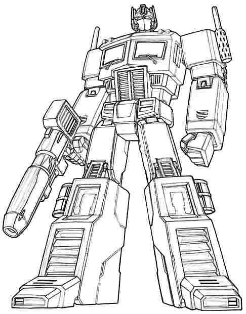 transformers optimus prime printable colouring in with