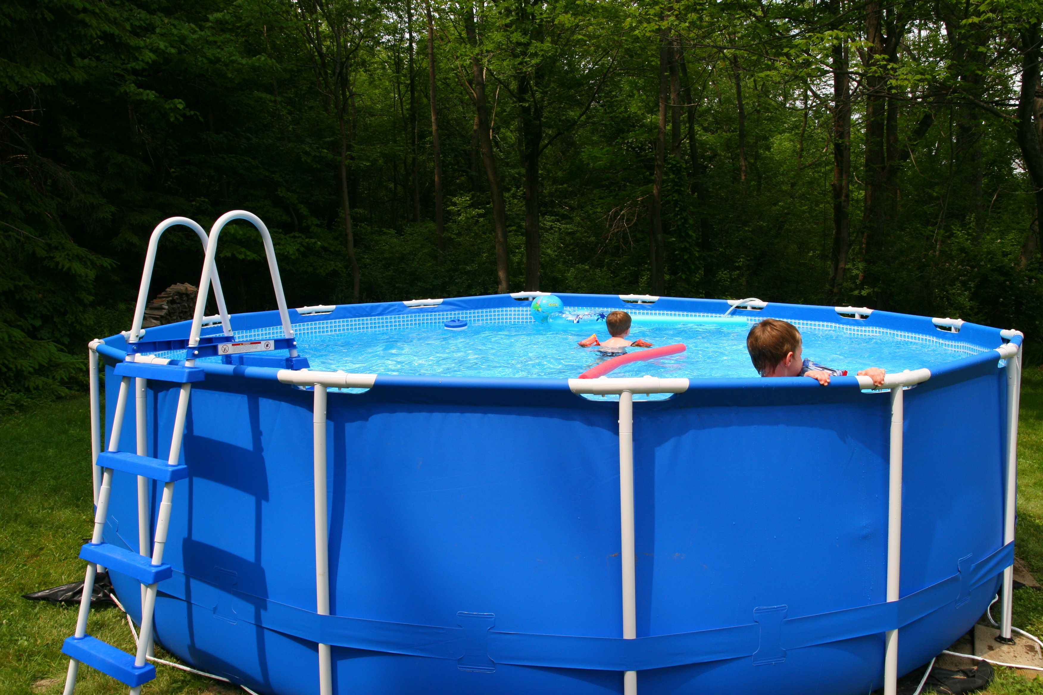How to Care for and Chlorinate an Intex Metal Frame Pool | Pinterest