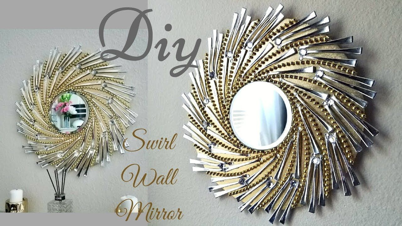 Diy Swirl Mirror Wall Decor Wall Decorating Ideas Youtube