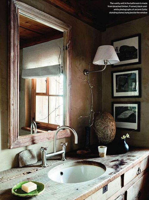 House and Garden UK / Andreas von Einsiedel {vintage rustic traditional primitive modern bathroom} | Flickr - Photo Sharing!