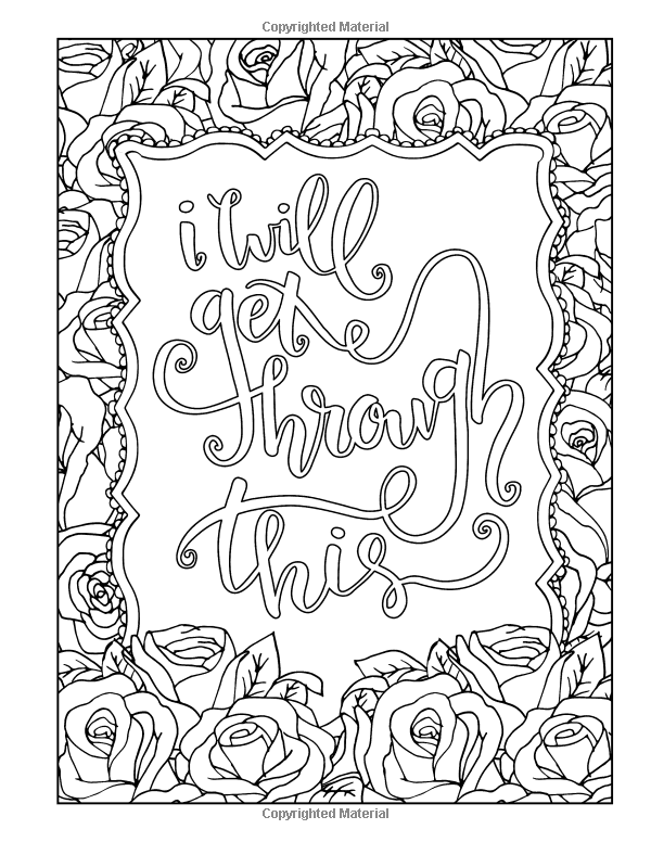 I will get through this | Coloring Through Cancer: An Adult Coloring ...