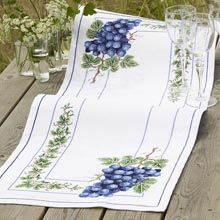 Blue Grapes Table Runner Counted Cross-Stitch Kit - Herrschners