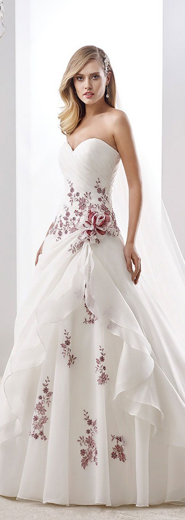 Lace dress for wedding  Glamorous Organza Sweetheart Neckline Aline Wedding Dresses With