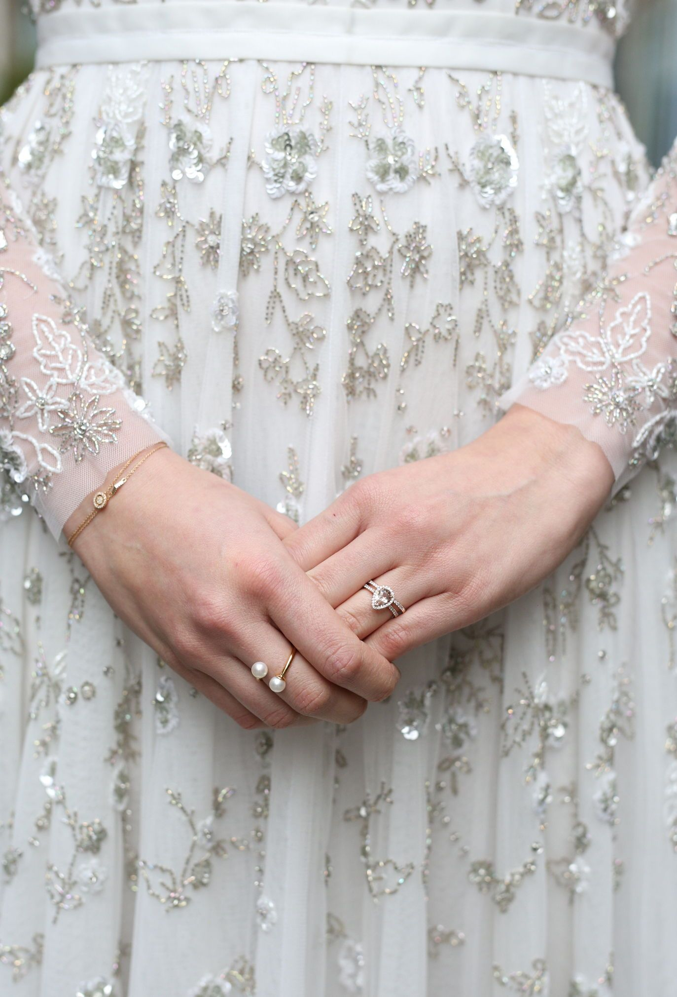Bridal details with jewellery from astley clarke as the perfect