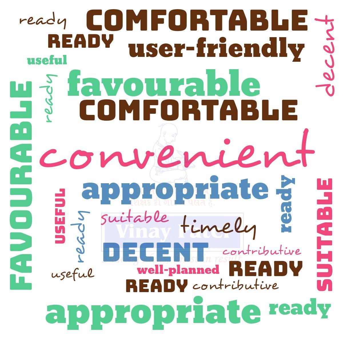 Alternative words for convenient.⠀ ⠀ #vocabulary #vocab #englishteacher #englishclass #MondayMotivation #monday #vinaypa… | English words ...