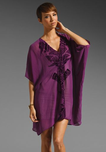 TWELFTH STREET BY CYNTHIA VINCENT Prato Burnout Caftan Dress in Berry at Revolve Clothing - Free Shipping!