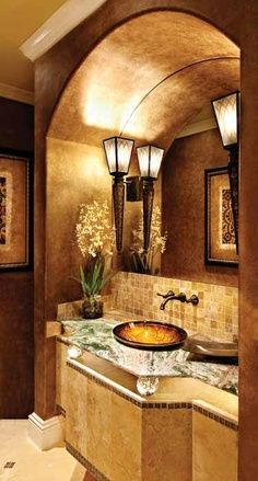 Petit coin gold bathroom tuscan ideas renovations design also best interior houses images home decor rh pinterest