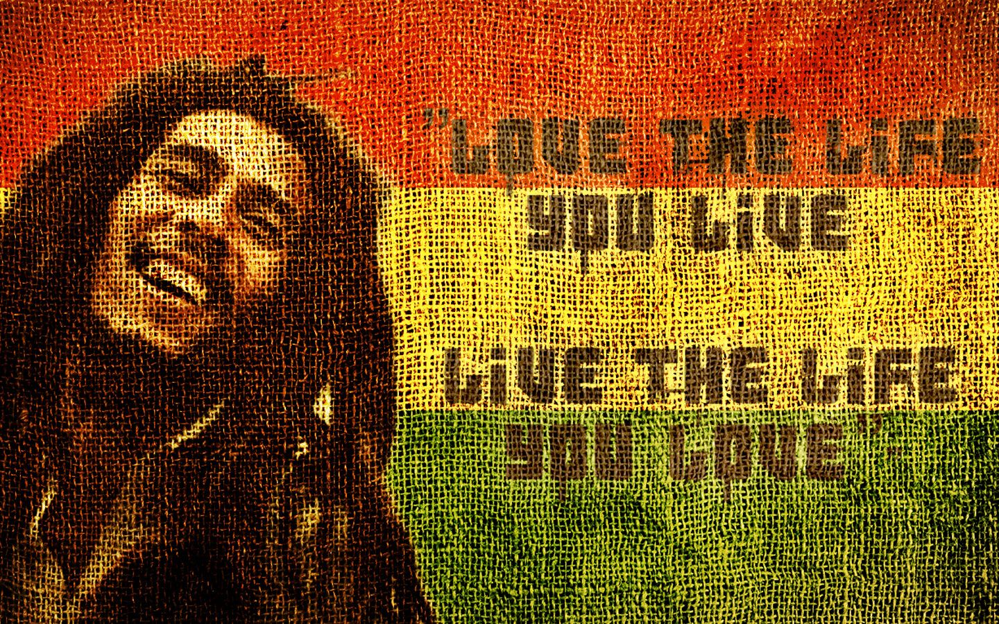 Bob Marley Quotes In Fabric Hd Wallpaper For Desktop Jpg 1440 900 Bob Marley Poster Bob Marley Quotes Bob Marley