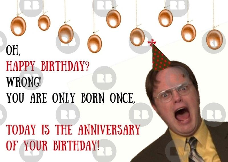 Dwight Schrute The Office Us Gift Ideas Greeting Card With