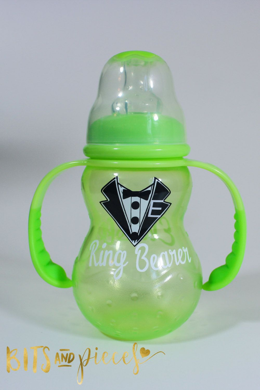 Personalized ring bearer sippy cup wedding party gift