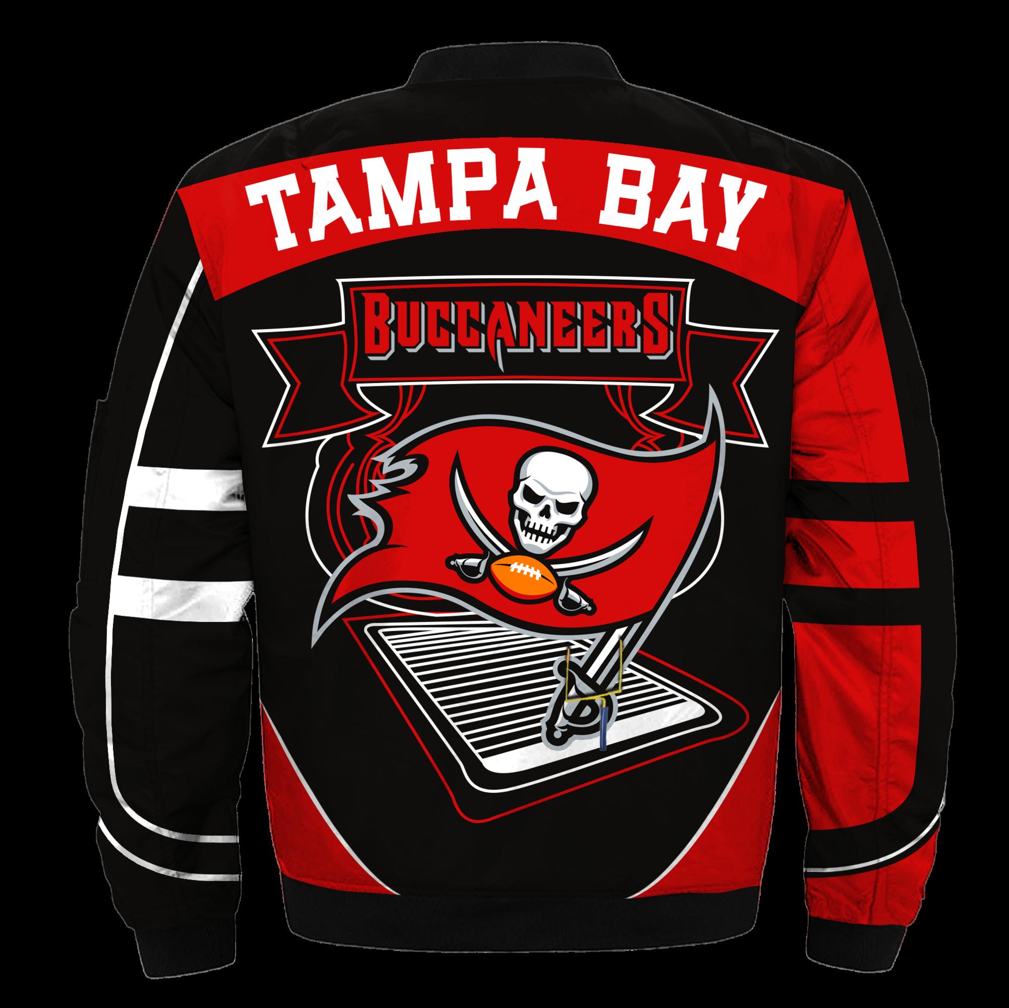Tampa Bay Buccaneers Bomber Jacket Nfl Tampa Bay Buccaneers Apparel En 2020 Nfl