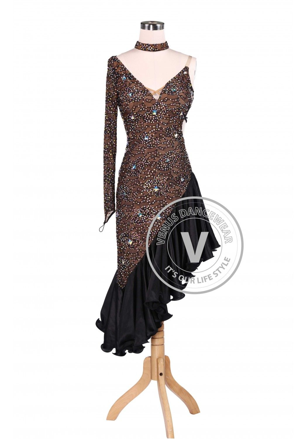 Chocolate Latin Rhythm Champion Competition Dress | Ballroom Dance ...