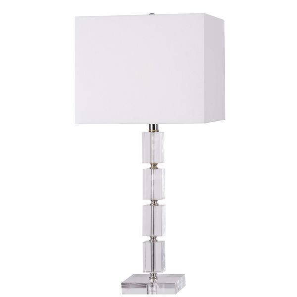 Ava clear acrylic table lamp overstock shopping great deals on ava clear acrylic table lamp overstock shopping great deals on design craft table aloadofball Image collections