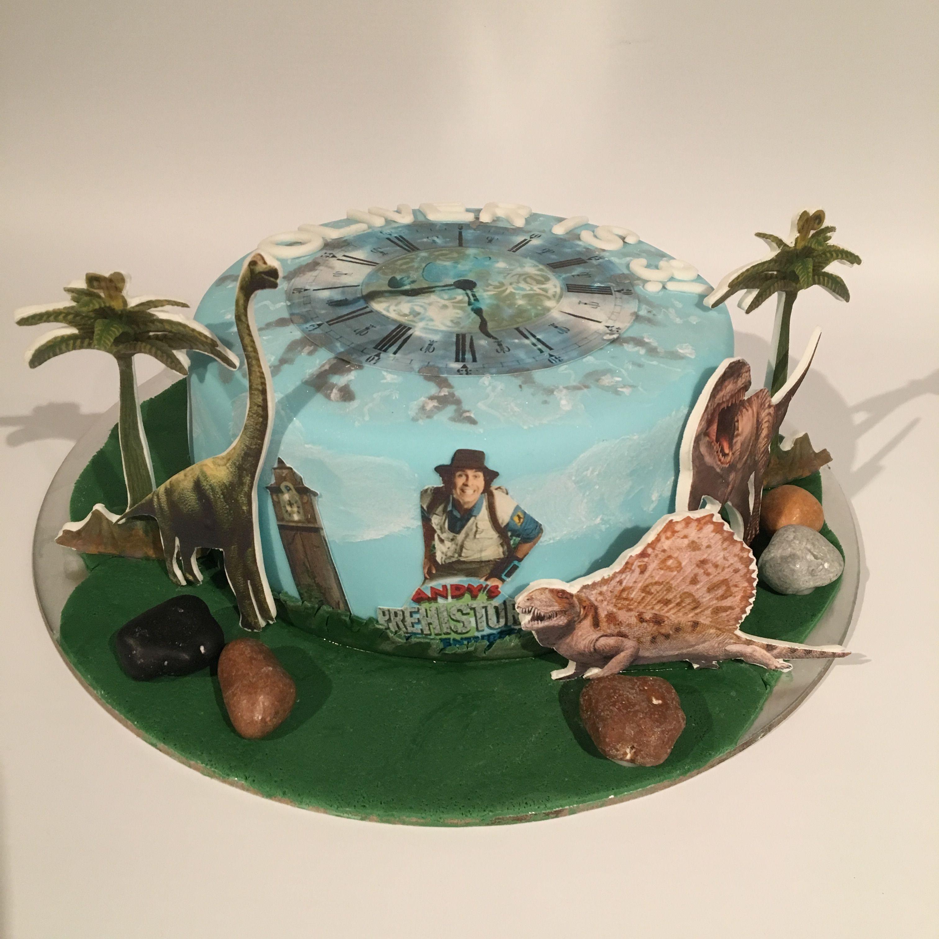 Andys prehistoric dinosaur cbeebies birthday cake from