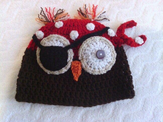 Gorro tejido búho pirata para niño. | crochet | Pinterest | Piratas ...