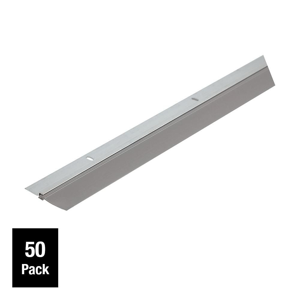 Simply Conserve Single Seal 1 3 4 In X 36 In Gray Aluminum And