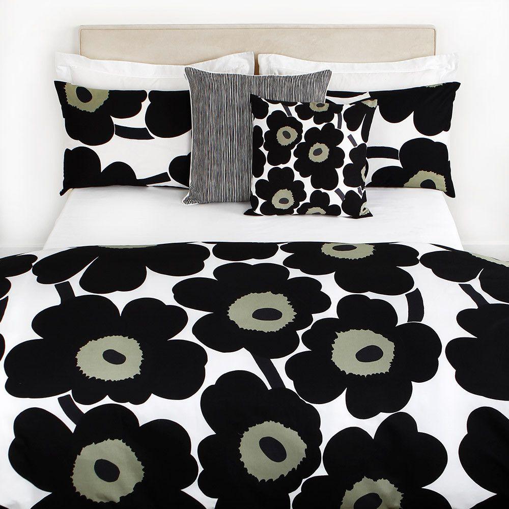 Discover The Marimekko Unikko Duvet Cover White Black Single