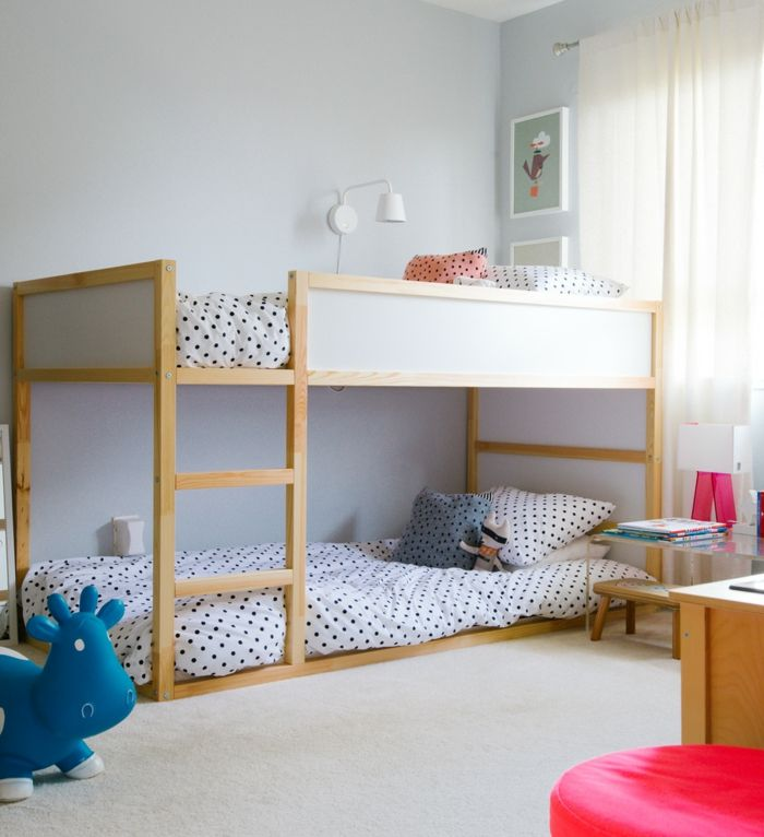 Kinderzimmer ikea hochbett  schöne kinderbetten hochbett bettwäsche punkte | KinderWelt ...
