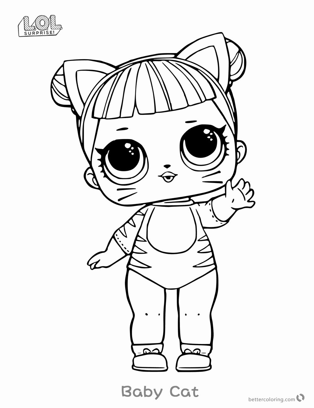Lol Surprise Coloring Page Awesome Lol Surprise Doll Coloring Pages Series 1 Baby Cat Free In 2020 Coloring Pages For Kids Cute Coloring Pages Lol Dolls