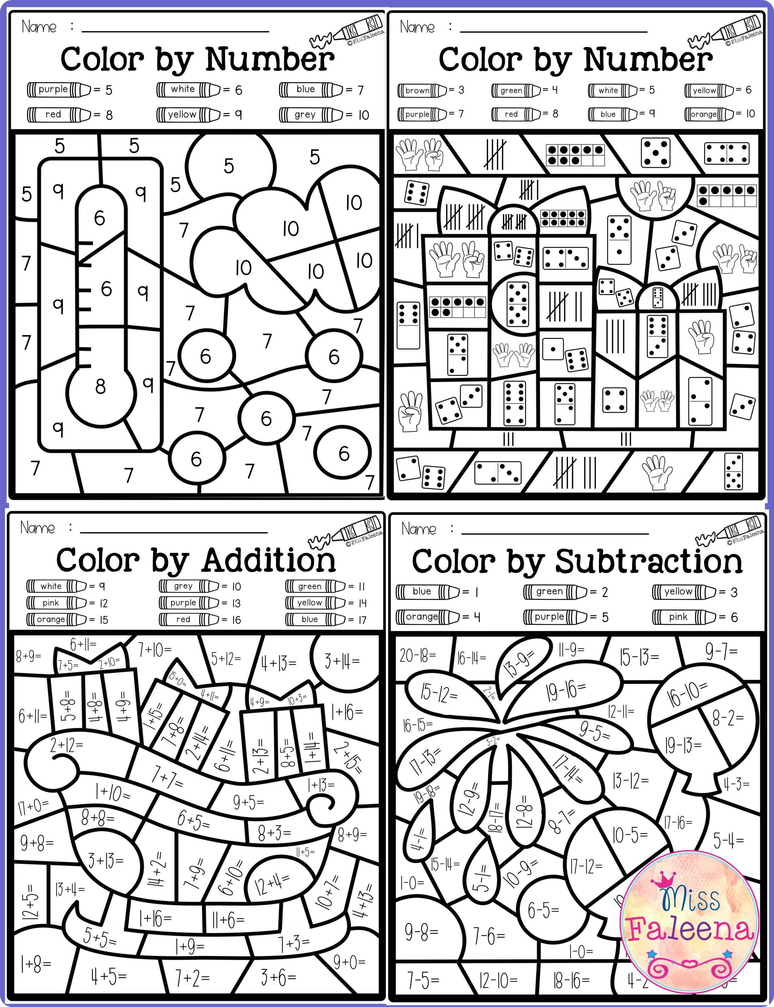 medium resolution of Color By Number Subtraction Worksheets - Cinebrique