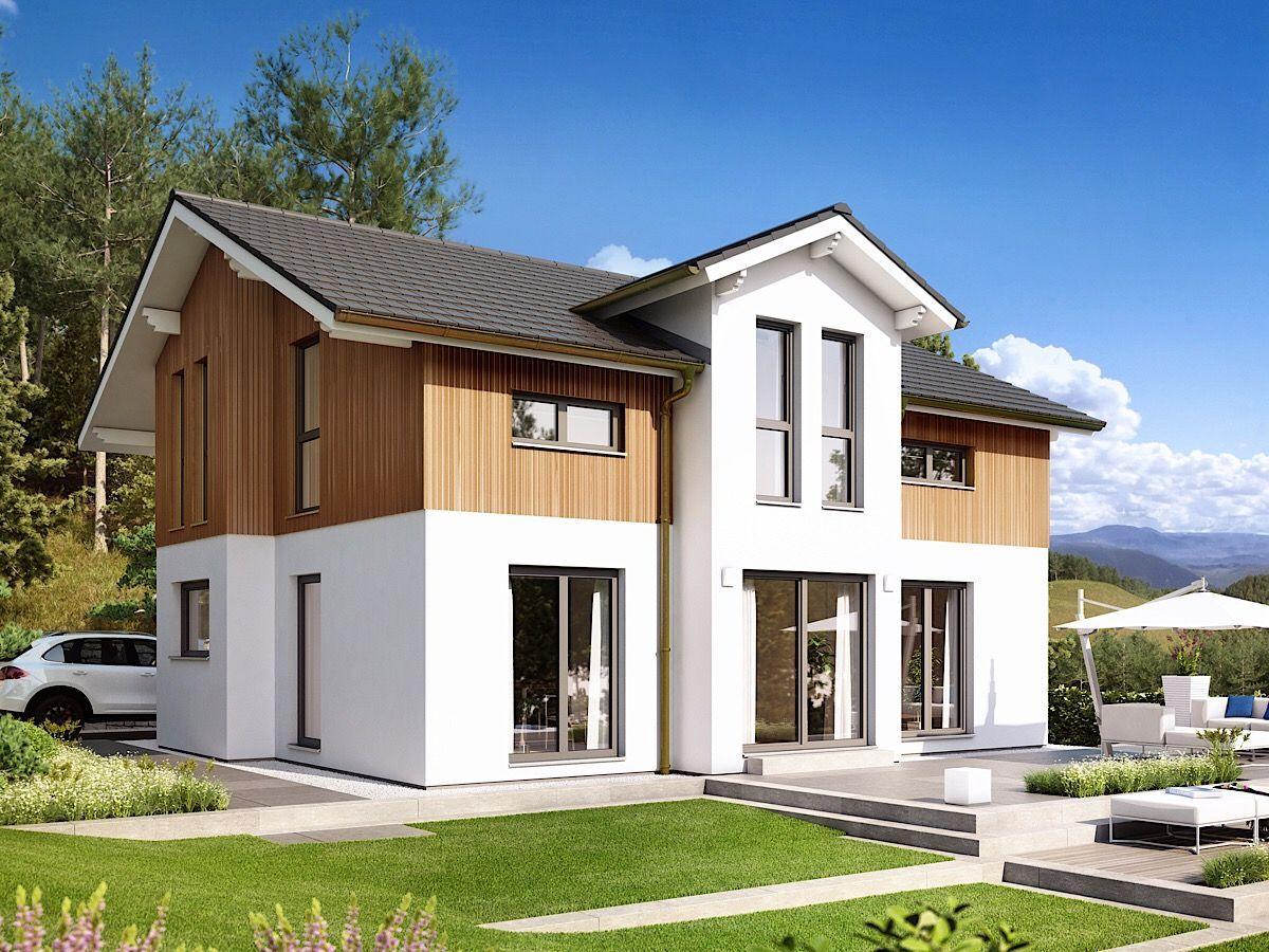 Modernes Haus im Alpenstil mit Satteldach Architektur