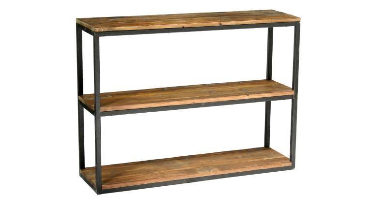 étagère suspendue bois métallique - Recherche Google CUISINES - meuble en fer design