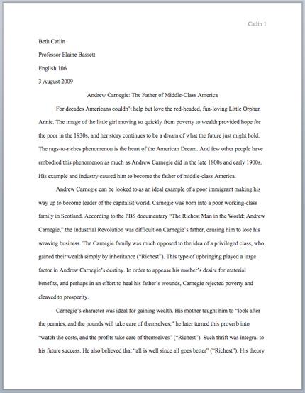 Mla Guide Owl Essay Format Writing Example Examples Purdue Persuasive