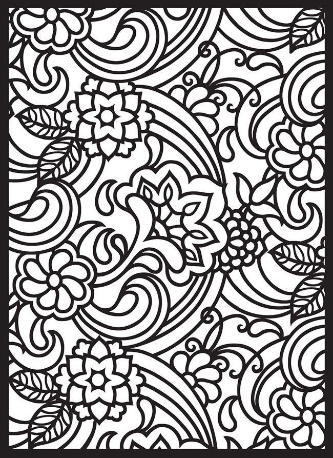 kleurplaat allerlei figuren en lijnen ook leuk voor