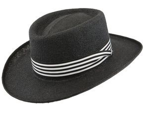 adcc7080a40 Dobbs Barbados - Bill the Hatter 100% Fine Twisted Cord 2-1 4 Inch Brim  with Grosgrain Ribbon and Dobbs Pin 4 1 2